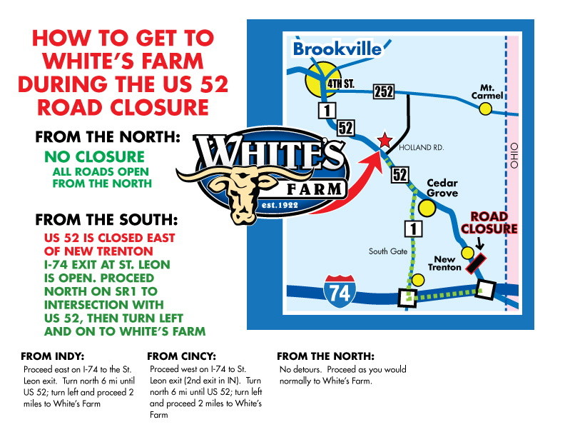 Welcome To Whites Website - Map of indianapolis showing us 52